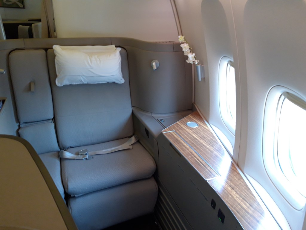 Cathay Pacific First Class ticket